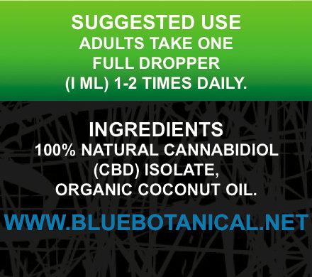 CBD 1000mg Mint Flavor Ingredients