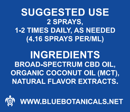 BB CBD Broad Spectrum Spray 3000mg 30ml Suggested Use