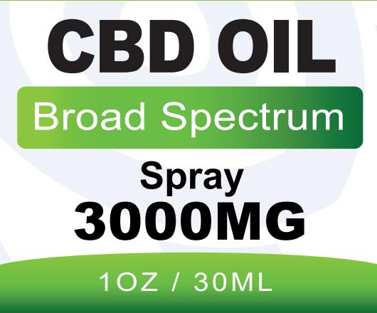 BB CBD Broad Spectrum Spray 3000mg 30ml Front