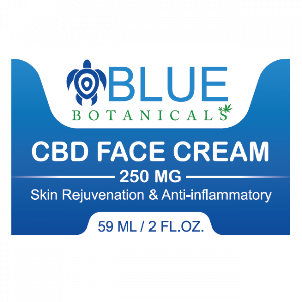Blue Botanicals CBD Face Cream Label