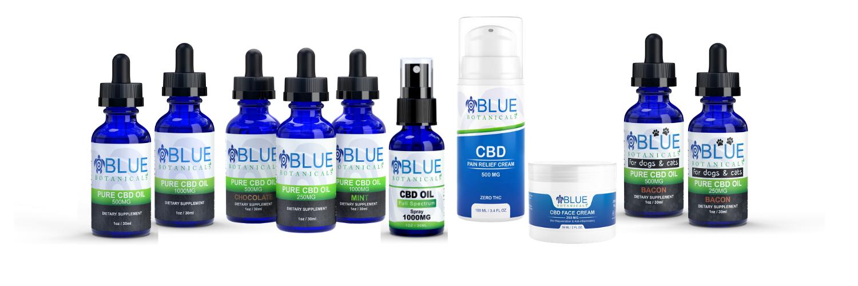 Blue Botanicals Products Range