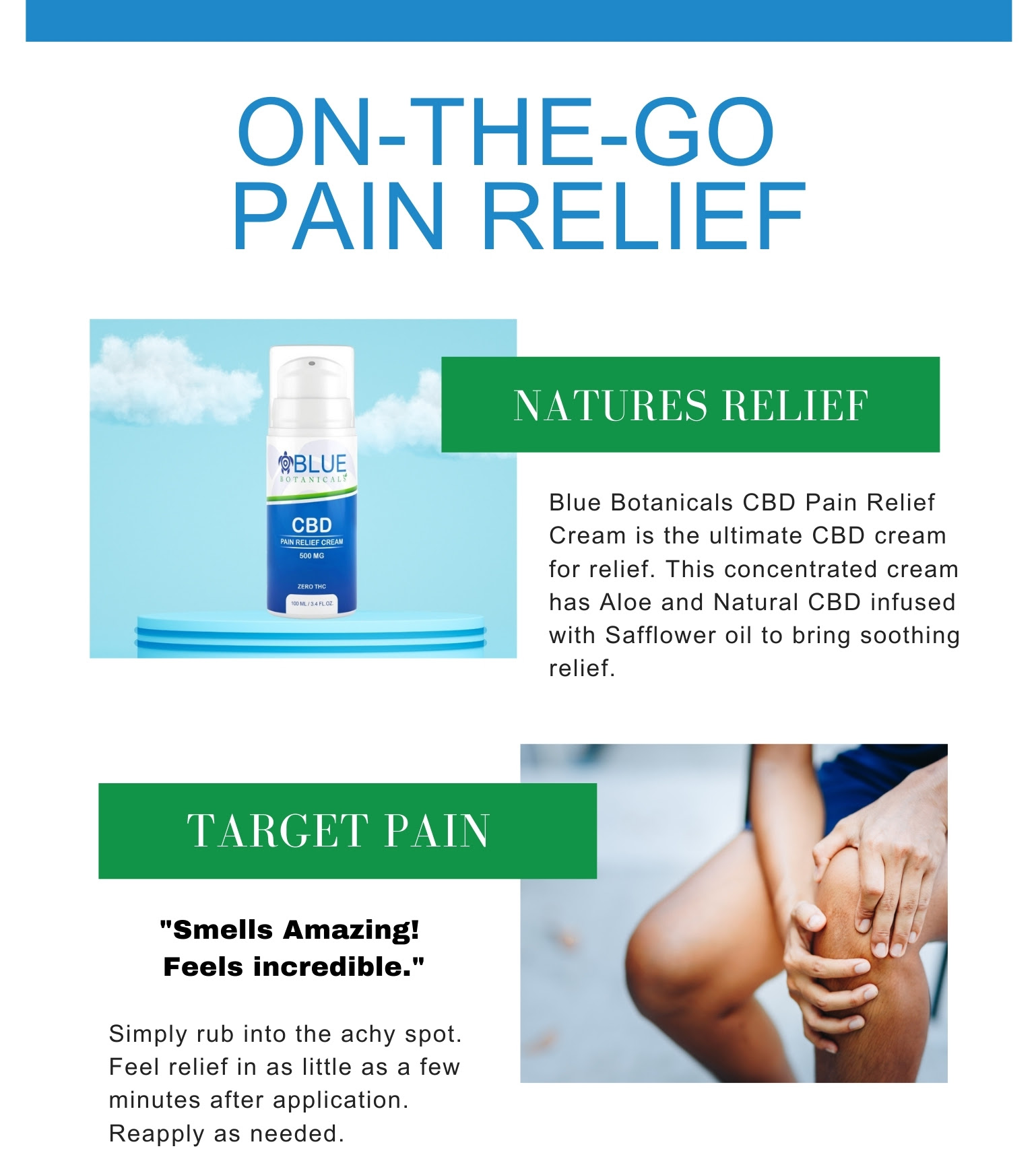 On the go pain relief from Blue Botanicals
