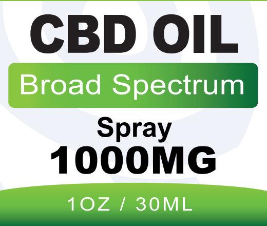 BB CBD Broad Spectrum Spray 1000mg 30ml front